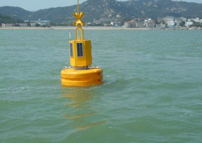 Instrumented buoy – water parameters & current flow measurements