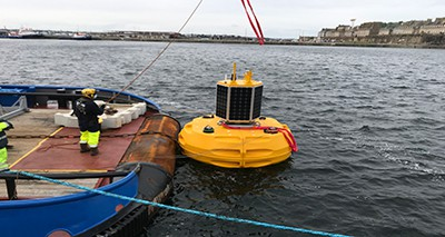 Mooring tests on oceanographic buoys